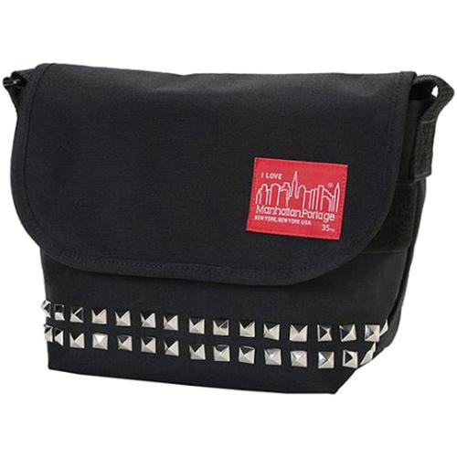 マンハッタンポーテージ Manhattan Portage ピラミッドスタッズシリーズ カジュアルメッセンジャーバッグ Casual Messenger Bag Sサイズ ブラック MP1605JRPYRSTUDS