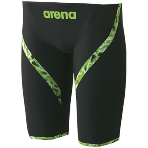 アリーナ arena メンズ 競泳水着 ハーフスパッツ ブラック ARN-6001M BKGN