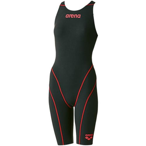 アリーナ arena レディース 競泳水着 ハーフスパッツオープンバック ブラック ARN-7010W BKBR