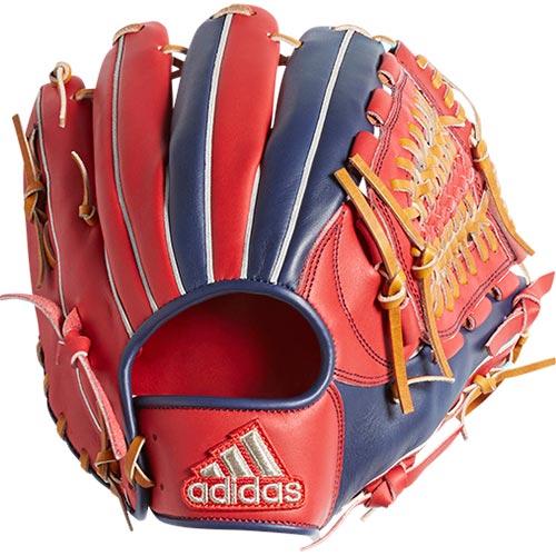 アディダス adidas 野球グローブ 軟式グラブ 内野手用III LH 右投げ用 ETY92 DM8633 スカーレット/ダークブルー
