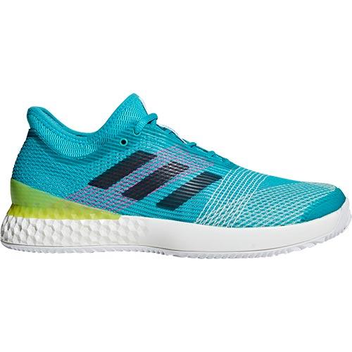 アディダス adidas メンズ テニス シューズ ウーバーソニック 3 マルチコート DBI19 F36721 ホワイト/イエロー