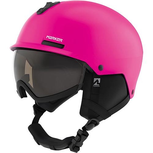 マーカー MARKER スキー用 ヴィジョ VIJO ジュニア ゴーグル付きヘルメット ピンク O 51-56cm 168415.6 女の子 キッズ