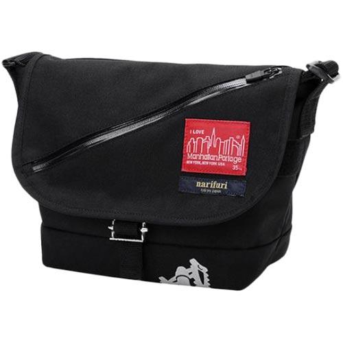 マンハッタンポーテージ Manhattan Portage メンズ レディース メッセンジャーバッグ ナリフリシリーズ ブラック Casual Messenger Bag MP1605JRNARIFURI