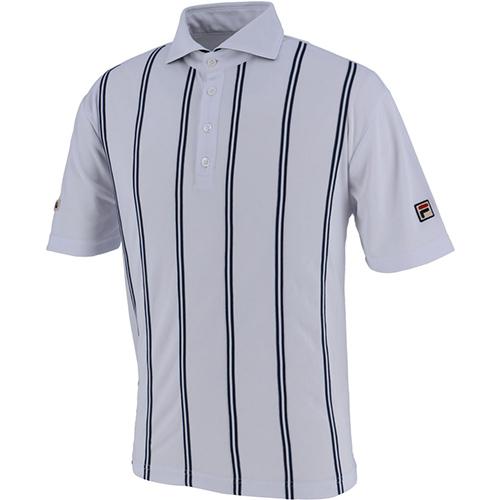 【楽ギフ_包装】 フィラ FILA メンズ テニス ポロシャツ ホワイト VM5382 01, 1st-priority e4cc9190