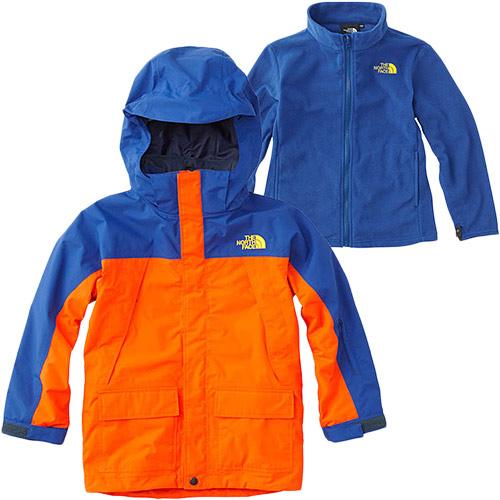 ノースフェイス THE NORTH FACE キッズ アウター スノートリクライメイトジャケット Snow Triclimate Jacket ペルシャオレンジ×ソーダライトブルー NSJ61801 PS 男児 女児