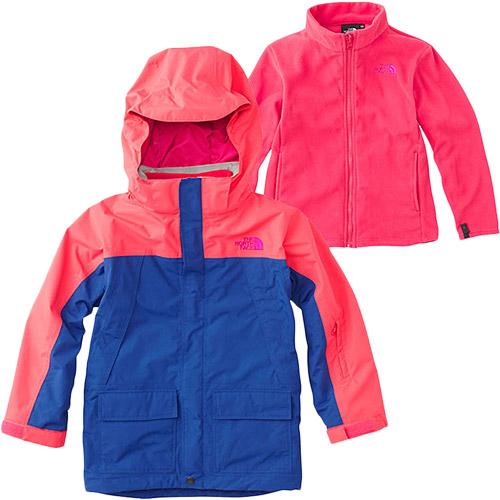 ノースフェイス THE NORTH FACE キッズ アウター スノートリクライメイトジャケット Snow Triclimate Jacket アトミックピンク×ソーダライトブルー NSJ61801 AS 男児 女児