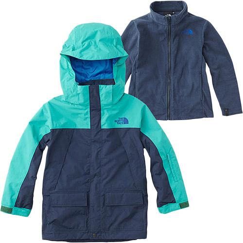 ノースフェイス THE NORTH FACE キッズ アウター スノートリクライメイトジャケット Snow Triclimate Jacket コズミックブルー×ココモグリーン NSJ61801 CK 男児 女児