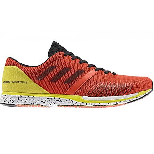 アディダス adidas メンズ レディース ランニングシューズ アディゼロ タクミ セン ブースト adiZERO takumi sen boost 5 wide オレンジ/ブラック/イエロー DBH65 F36492