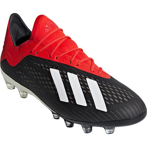 アディダス adidas メンズ サッカーシューズ エックス 18.2-ジャパン HG/AG コアブラック/オフホワイト/アクティブレッド DBK87 F97356