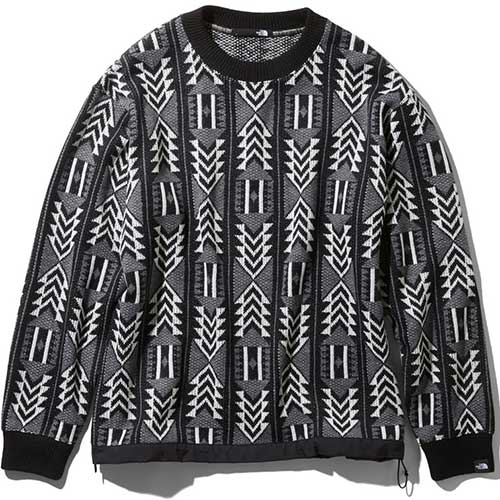 ノースフェイス THE NORTH FACE メンズ レディース レイジセーター RAGE Sweater ホワイト×ブラック NT41961 WK ユニセックス