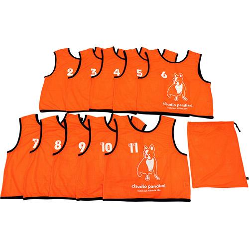 ジャンキー Junky バスケットボール クラウディオ パンディアーニ ビブス10枚セット NO2-11 チーム分け道着 オレンジ フリーサイズ CP18602 132
