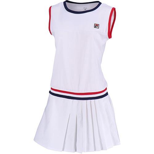 フィラ FILA レディース テニス ノースリーブワンピース ホワイト VL1915 01