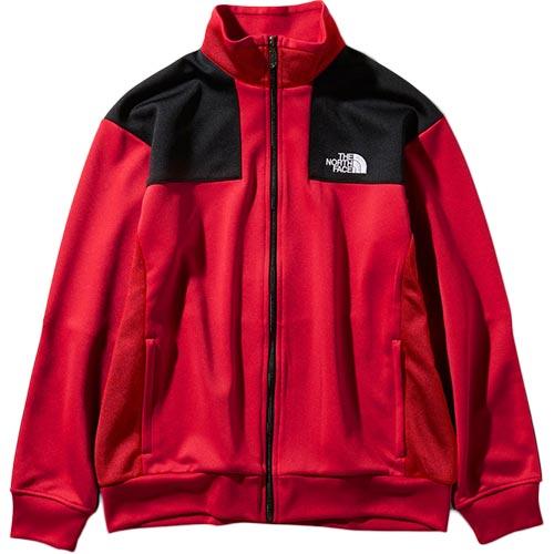 ノースフェイス THE NORTH FACE メンズ ジャージジャケット Jersey Jacket ブラック×TNFレッド NT11950 KT