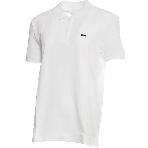 ラコステ LACOSTE レディース コットン100%ピケ ポロシャツ ホワイト PF7839L 001