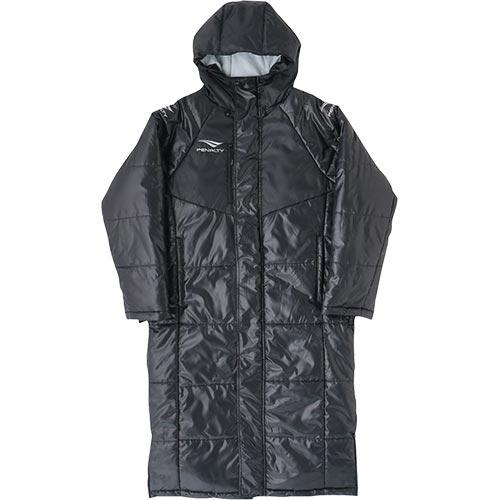 ペナルティ PENALTY メンズ サッカーウェア ロングコート ブラック PO9421 30