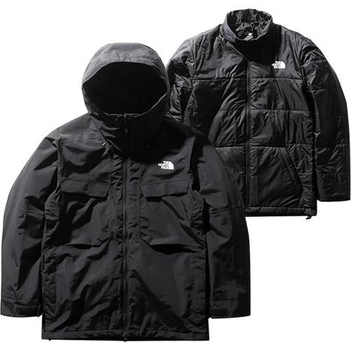 ノースフェイス THE NORTH FACE レディース フォーバレルトリクライメイトジャケット Fourbarrel Triclimate Jacket ブラック NS61904 K