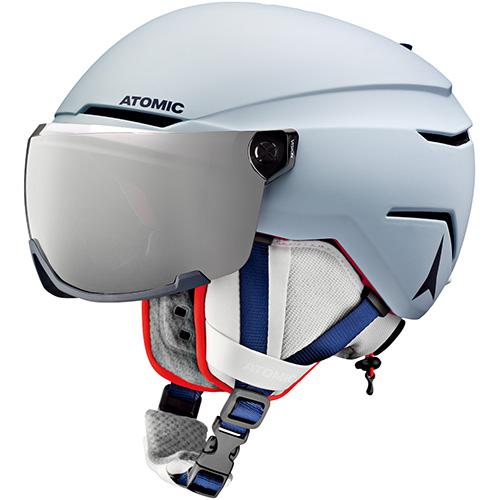 アトミック ATOMIC ジュニア スキー ヘルメット SAVOR VISOR JR スカイライン AN5005726 男の子 女の子 キッズ