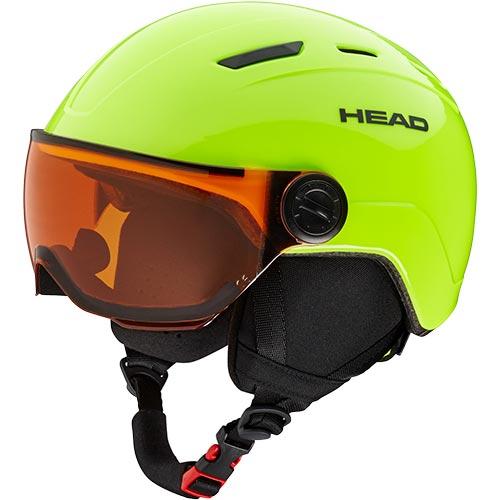 ヘッド HEAD ジュニア スキー ヘルメット MOJO VISOR ライム 328118 キッズ