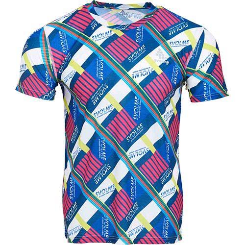半袖 トレーニングウェア スポーツウェア Tシャツ トップス スボルメ SVOLME ピンク 036 メンズ ランニングウェア ファクトリーアウトレット クレイジーパターンランシャツ おすすめ 7201-05900 ネイビー