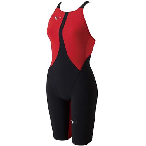 ミズノ MIZUNO レディース 競泳水着 MX-SONIC02 ハーフスーツ ブラック×レッド N2MG8211 51