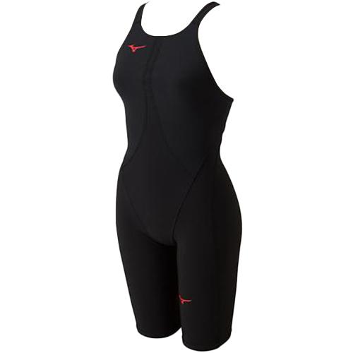 ミズノ MIZUNO レディース 競泳水着 MX-SONIC02 ハーフスーツ ブラック×レッド N2MG8211 71