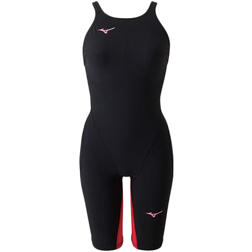 ミズノ MIZUNO レディース 競泳水着 MX-SONIC G3 ハーフスーツ ブラック×レッド N2MG8712 96