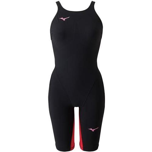 ミズノ MIZUNO ジュニア 競泳水着 MX-SONIC G3 ハーフスーツ ブラック×レッド N2MG8912 96 女の子
