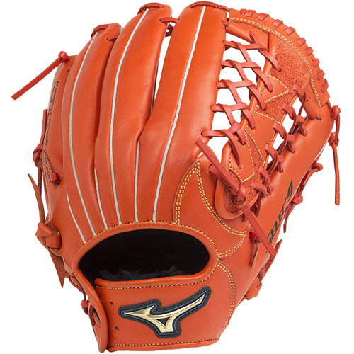 ミズノ MIZUNO 野球グローブ 軟式用 セレクトナイン 外野手向け サイズ14 スプレンディッドオレンジ 1AJGR20807 52