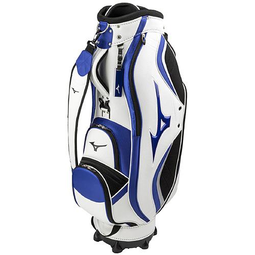 ミズノ MIZUNO ゴルフ用品 カートキャディバッグ LIGHT STYLE NEXLITE ホワイト×ブルー 5LJC190100 0122