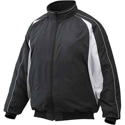 ミズノ MIZUNO メンズ 野球 グラウンドコート ブラック×ホワイト 12JE9G33 09