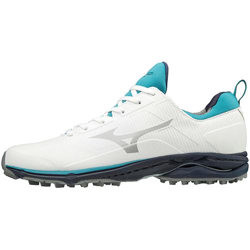 ゴルフ シューズ スパイクレス 靴 ミズノ MIZUNO メンズ ゴルフシューズ 22 SL 海外並行輸入正規品 51GM1970 ウエーブケイデンススパイクレス 超定番 ホワイト×サックス CADENCE WAVE