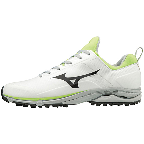 ゴルフ シューズ スパイクレス 靴 ミズノ MIZUNO 新生活 メンズ ゴルフシューズ ホワイト×ライム CADENCE WAVE 35 SL ウエーブケイデンススパイクレス 51GM1970 お買得