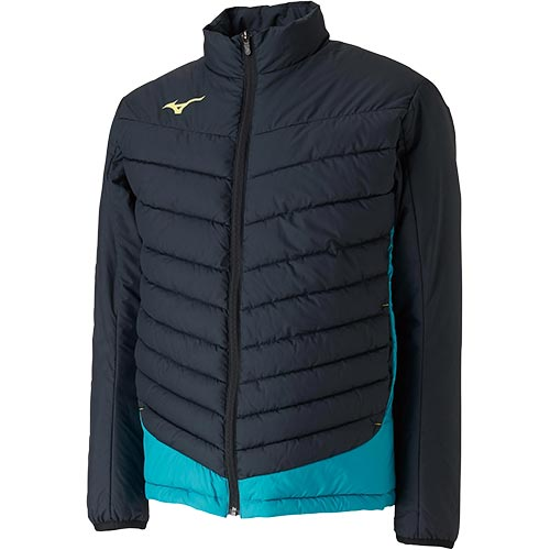 ミズノ MIZUNO メンズ レディース サッカー テックフィルジャケット ブラック×ブルーグラス P2ME9515 92