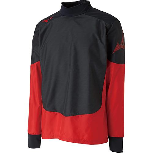 ミズノ MIZUNO メンズ レディース サッカー ピステシャツ ブラック×チャイニーズレッド P2ME9525 96