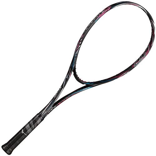 ミズノ MIZUNO ソフトテニスラケット スカッド SCUD 01-R ソリッドブラック×サンセットマゼンタ 63JTN053 64