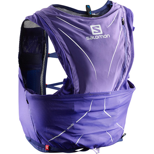 SALOMON サロモン アドバンスドスキン12セット ADV SKIN 12 SET PURPLE OPULENCE/MEDIEVAL BLUE L40138500