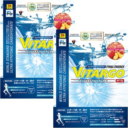 FINE LAB ファインラボ 健康食品 ファイナルエナジー ヴィターゴ Vitago 1kg ブラッドピーチ FLV1P 2個セット