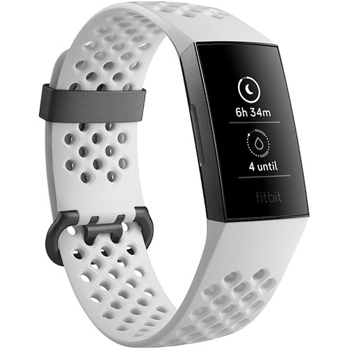 FitBit フィットビット フィットネストラッカー Charge3 Special Edition White L/Sサイズ FB410GMWT-CJK