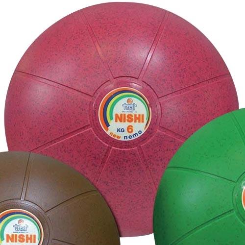 ニシスポーツ NISHI ネモメディシンボール ゴム製 6kg NT5886C
