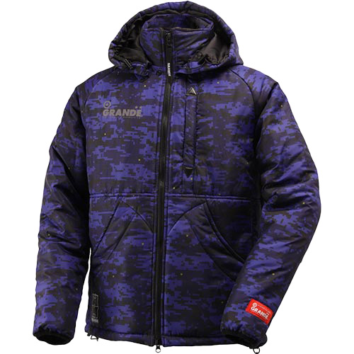 GRANDE グランデ DISITAL CAMO QUILT フーデットジャケット GFPH15508 NAVY