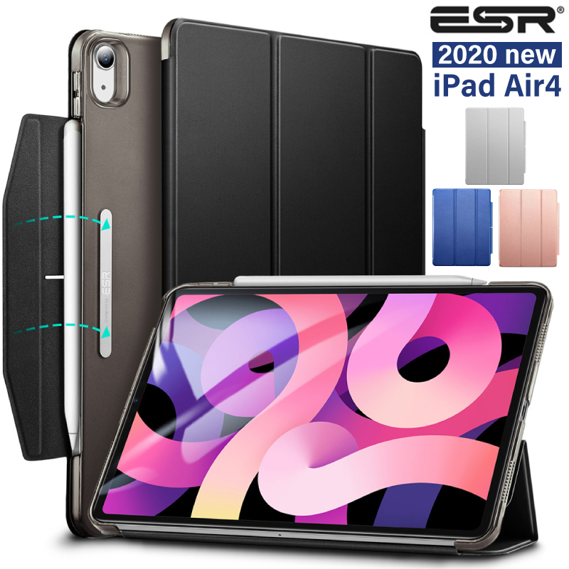 \2020 iPad Air ケース 10.9インチ 新型ipad 10.9 ipad air4 カバー 賜物 ipadair4 \ブック型カバー Air4 ESR スリム 軽量 第4世 apple 第4世代 傷防止 三つ折りスタンド 薄型 pencil対応 期間限定で特別価格 2020 air 4 Apple