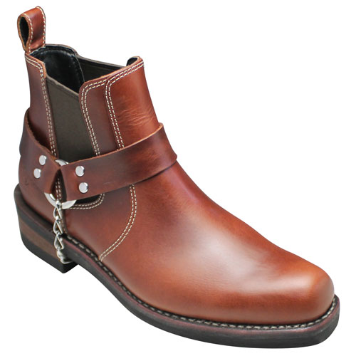 【ALPHA(アルファ)】グッドイヤーウェルト製法のプルオンハーネスブーツ・AFB20011(ダークブラウン)・【送料無料(北海道・沖縄除く)】/メンズ 靴