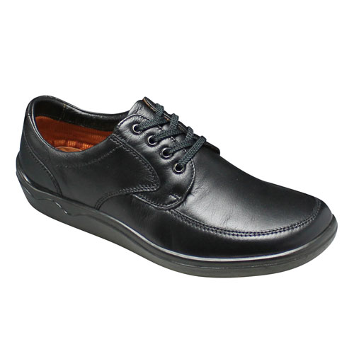 【ARUKURUN(アルクラン)】快適なウォーキングを実現するシープスキンの超軽量のコンフォートシューズ(レース)3E・AR1102(ブラック)/メンズ 靴
