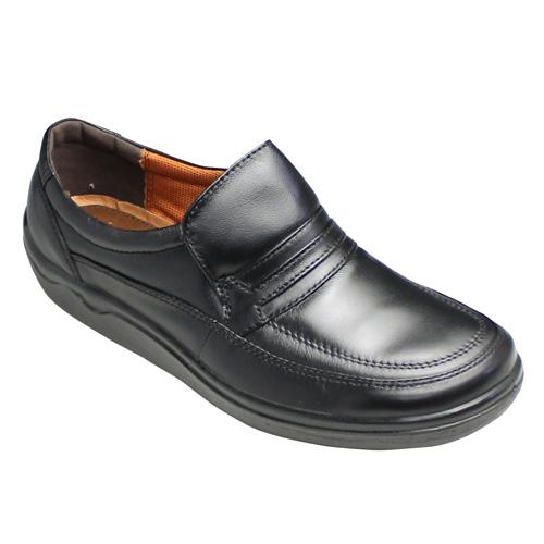 【ARUKURUN(アルクラン)】ウォーキングカジュアル・AR1105(ブラック)/スリッポン・撥水加工・超軽量・3E/メンズ 靴