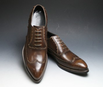 Half price! Legendary man with long legs long nose shoes wing tip (race) BC3080( brown) fs3gm