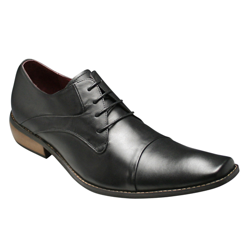 【Bump N' GRIND(バンプ アンド グラインド)】神戸発信!有機的なストレートチップの牛革ビジネスシューズ(レース)・BG2799(ブラック)/メンズ 靴