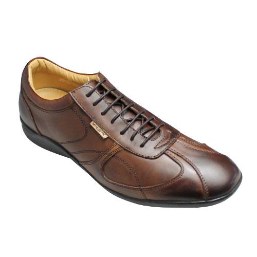 【Bump N' GRIND(バンプ アンド グラインド)】神戸発信!ロングノーズのヨーロピアンレザースニーカー・BG9010(ブラウン)/メンズ 靴