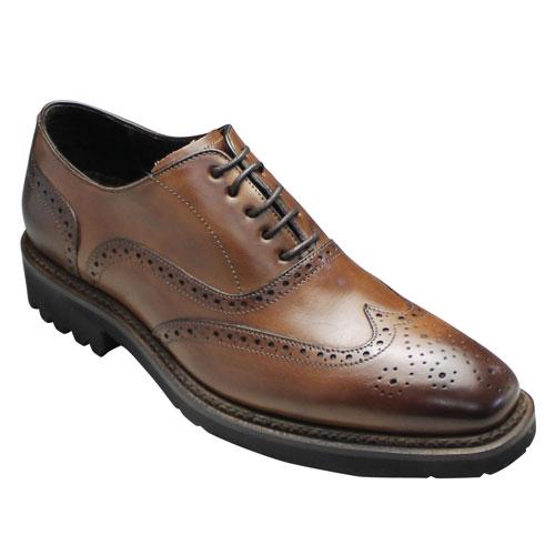 【CARLO MEDICI(カルロ メディチ)】【イタリア製】ラギットソールがオシャレなウイングチップ・CR4666(ブラウン)/メンズ 靴