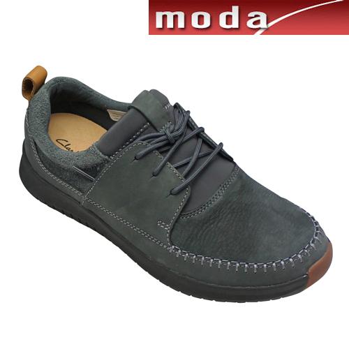 クラークス カジュアルスニーカー モカシン 010J ダークグレー Clarks メンズ 靴