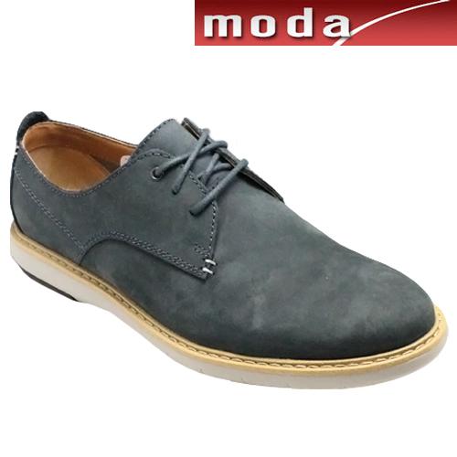 クラークス/ドレスカジュアルシューズ・Flexton Plain(ブルースエード) 26119314/メンズ 靴